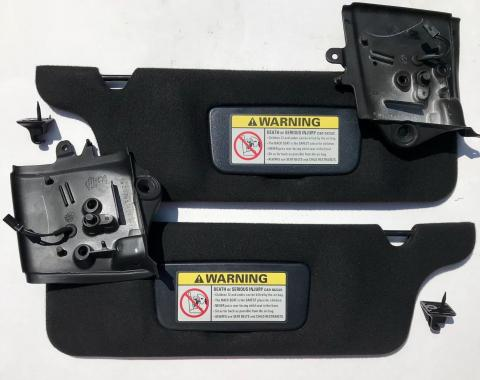 Ford Mustang Sun Visors, Dark Charcoal, Convertible, USED 1994-2004