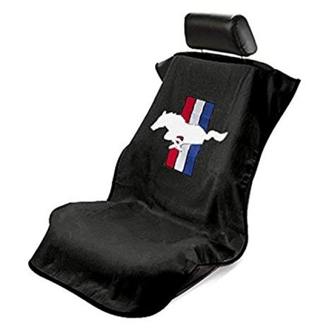 Seat Armour Mustang Pony, Seat Towel, Black with Logo SA100MUSB