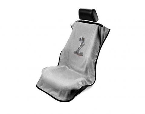 Seat Armour Mustang Cobra Seat Towel, Grey with Script SA100COBT
