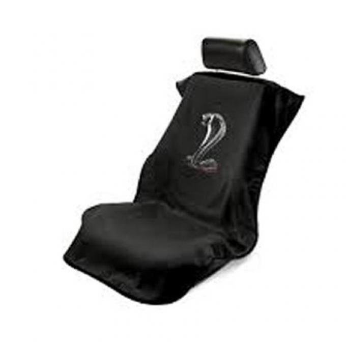 Seat Armour Mustang Cobra Seat Towel, Black with Script SA100COBB