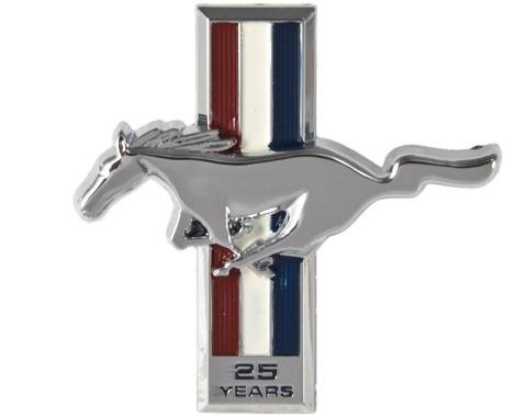 Daniel Carpenter 1989-1990 Mustang 25th Anniversary Dash Emblem Pony & Tri-Bar Running Horse E9ZZ-6104460