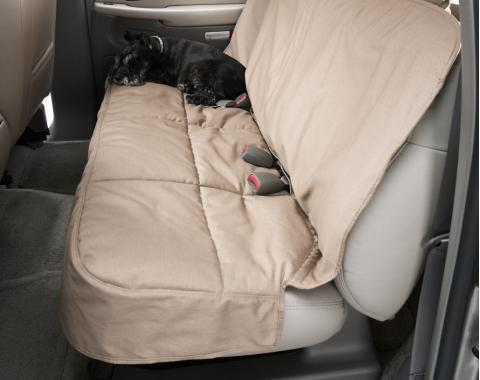 Covercraft Canine Covers Semi-Custom Rear Seat Protector, Polycotton Taupe DSC3024TP