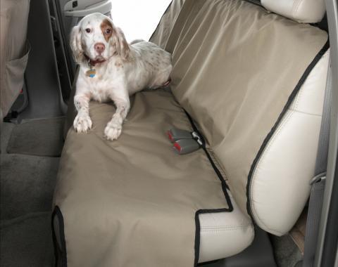 Covercraft Canine Covers Semi-Custom Rear Seat Protector, Polycotton Taupe DE2021TP