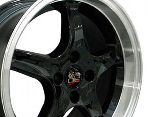 "17"" Fits Ford - Mustang 4-Lug Cobra R Wheel - Black 17x9"