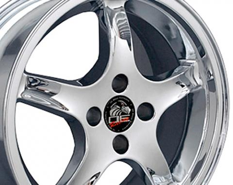 "17"" Fits Ford - Mustang 4-Lug Cobra R Wheel - Chrome 17x8"