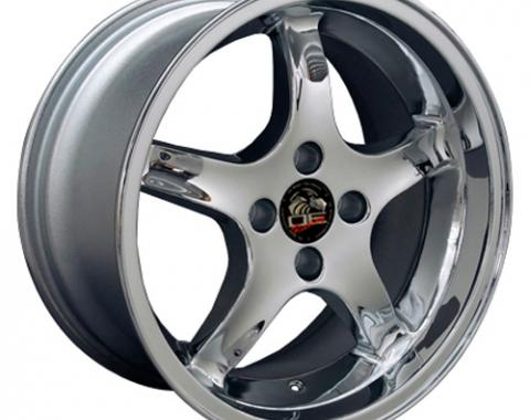 "17"" Fits Ford - Mustang 4-Lug Cobra R Wheel - Chrome 17x9"