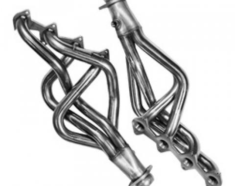 Kooks Headers 11312000, Exhaust Header, For Use With Ford 4.6L SOHC Modular Engine, Long Tube Chassis Exit, 1-5/8 Inch Diameter Primary Tubes, 2-1/2 Inch Diameter Collectors, For Off-Road Use Only, Natural Stainless Steel