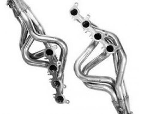 Kooks Headers 11412400, Exhaust Header, For Use With Ford 5.0L 302 Cubic Inch Engines, Long Tube Style Header, 1-7/8 Inch Diameter Primary Tube, 3 Inch Diameter Collector, Round Ports, For Off Road Use Only, Stainless Steel, With Installation Hardware