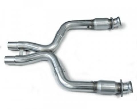 Kooks Headers 11323200, Exhaust Crossover Pipe, Exhaust Crossover Pipe X Pipe, Stainless Steel, 3 Inch Diameter Pipe With 2-1/2 Inch OEM Outlets, With Kooks High Flow Race Catalytic Converters, Requires Exhaust Header