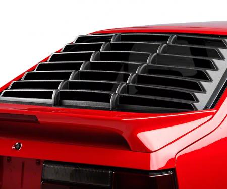 Mustang Rear Window Louver, Black ABS Textured, 1979-1993