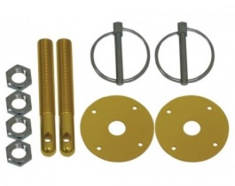 Aluminum Hood Pin Kit, Gold