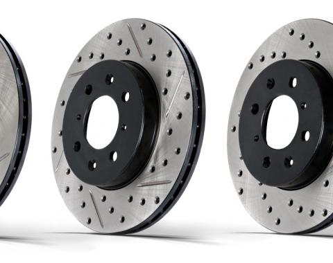 Stop Tech / Power Slot 128.61087L, Brake Rotor, SportStop (R) Drilled, Silver E-Coated, Alloy, Single