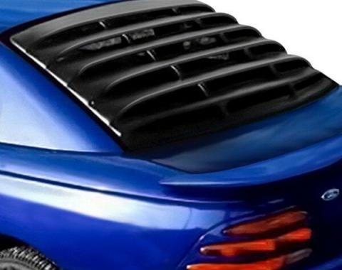 Mustang Rear Window Louver, Black ABS Textured, 1994-2004