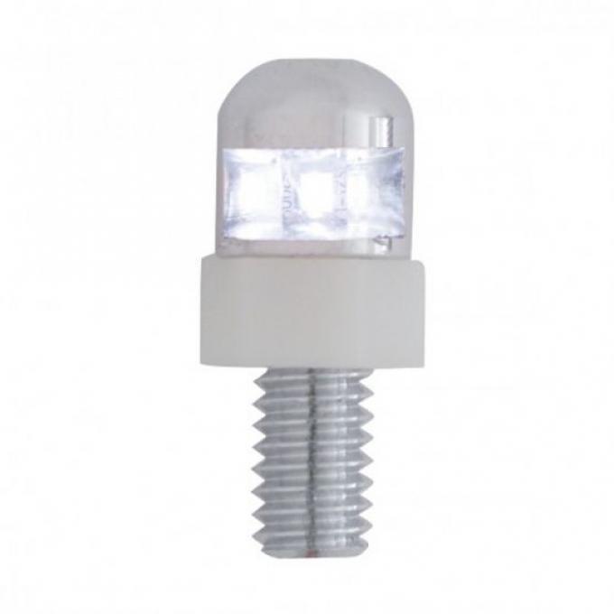 United Pacific 1 LED License Plate Fastener - White LED (2 Pack) 70303