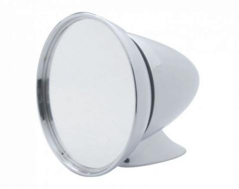 United Pacific Large Deluxe Chrome GT Racing Style Mirror S1402