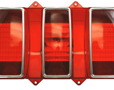 United Pacific Tail Light Lens With Stainless Steel Trim For 1969 Ford Mustang F6901
