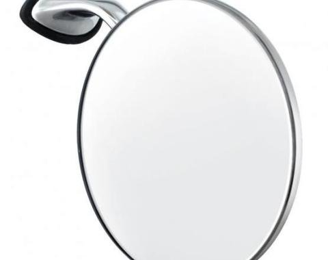 """United Pacific Stainless Steel British """"MG"""" Car Fender Mirror - R/H C5058R"""