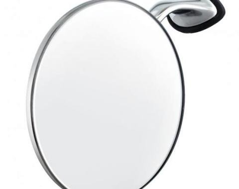 """United Pacific Stainless Steel British """"MG"""" Car Fender Mirror - L/H C5058L"""