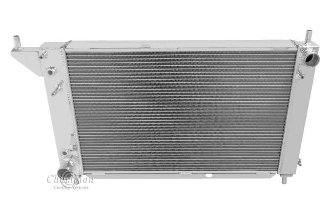 Champion Cooling 1996 Ford Mustang 4 Row All Aluminum Radiator Made With Aircraft Grade Aluminum MC1775