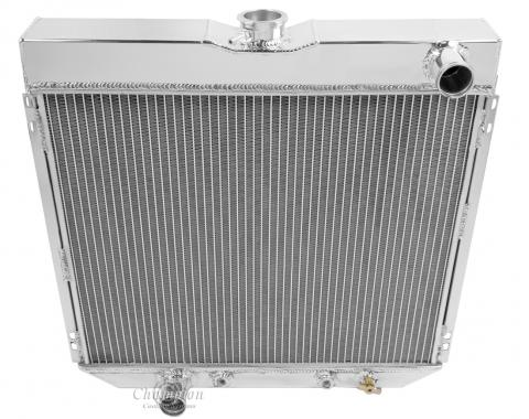 Champion Cooling 2 Row All Aluminum Radiator Made With Aircraft Grade Aluminum EC339