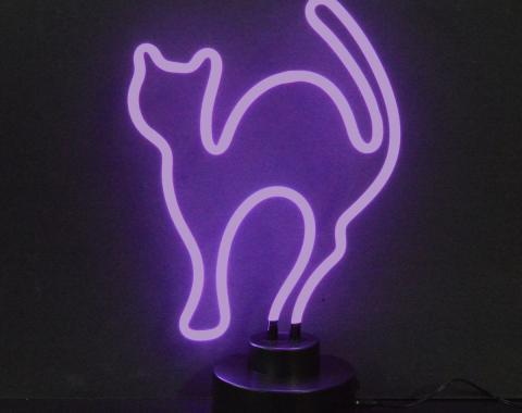 Neonetics Neon Sculptures, Purple Cat Neon Sculpture