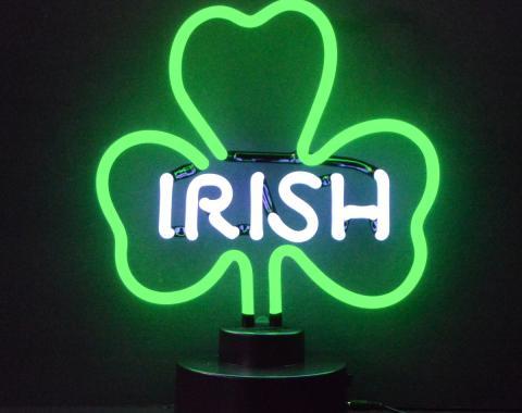 Neonetics Neon Sculptures, Irish Shamrock Neon Sculpture