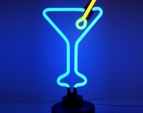 Neonetics Neon Sculptures, Martini Glass Neon Sculpture