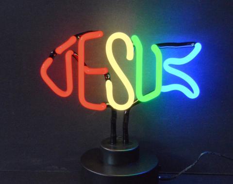 Neonetics Neon Sculptures, Jesus Fish Neon Sculpture