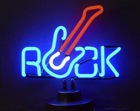 Neonetics Neon Sculptures, Rock with Guitar Neon Sculpture