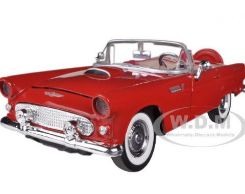 1956 Ford Thunderbird Convertible Red 1/24 Diecast Model Car