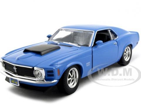 1970 Ford Mustang Boss 429 Blue 1/24 Diecast Model Car
