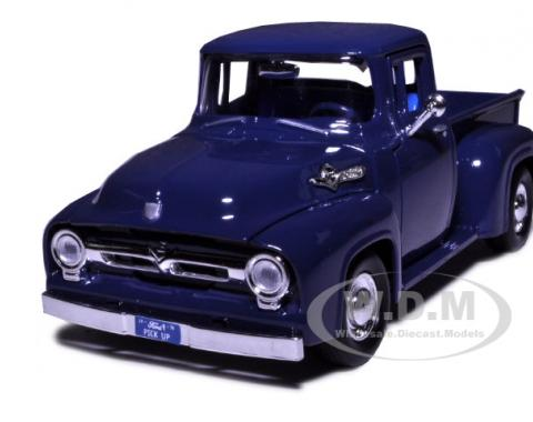 1956 Ford F-100 Pickup Blue 1/24 Diecast Model Car