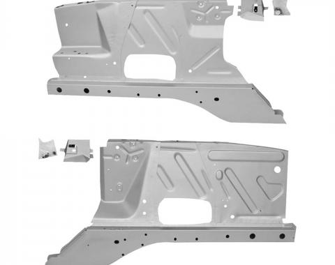 Ford Mustang Custom Fender Apron Assemblies, without Shock Towers