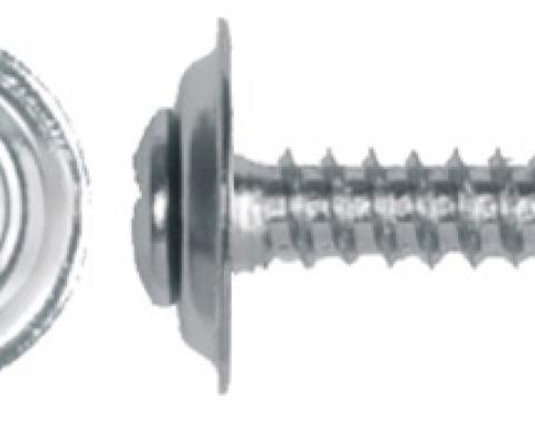 "Phillips Oval Head 8 x 1"" Chrome Sems Screws"