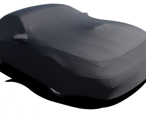 Mustang Car Cover Coupe or Convertible, Onyx Satin Indoor, Black, 1999-2004