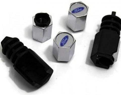 Ford Valve Stem Caps Theft-Deterrent, Ford Oval