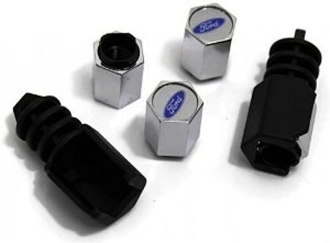 Ford Valve Stem Caps Theft-Deterrent, Ford Oval
