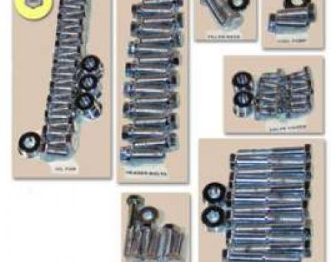 Engine Hardware Kit-Headers (Small Block, Stainless)