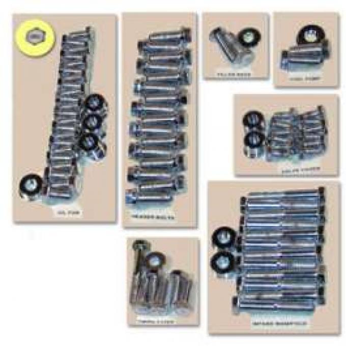 Engine Hardware Kit (429, 460, Chrome)