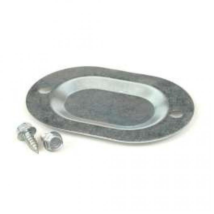 Drain Hole Cover Plate - Floor Pan - Oval - Steel
