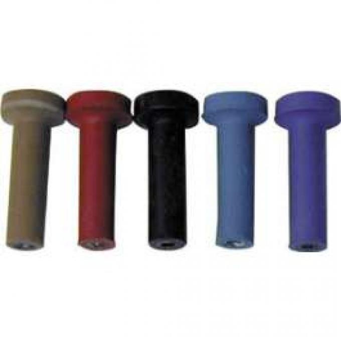 Door Lock Buttons - Black Plastic
