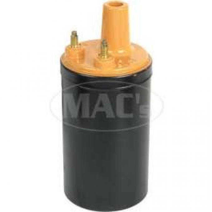 Ignition Coil - 12 Volt - Black Body - Mustard Top