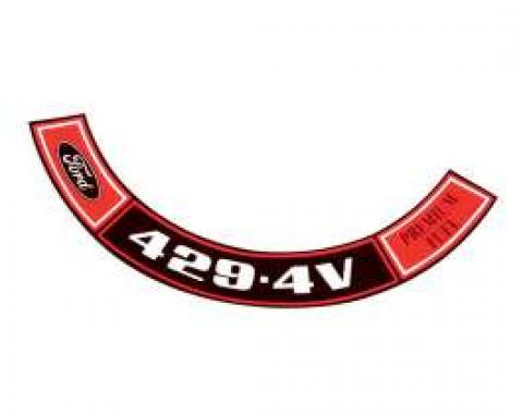 Air Cleaner Decal - 429 4V-Premium Fuel