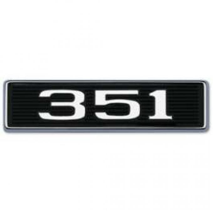 351 Hood Scoop Emblem - Correct Die-Cast