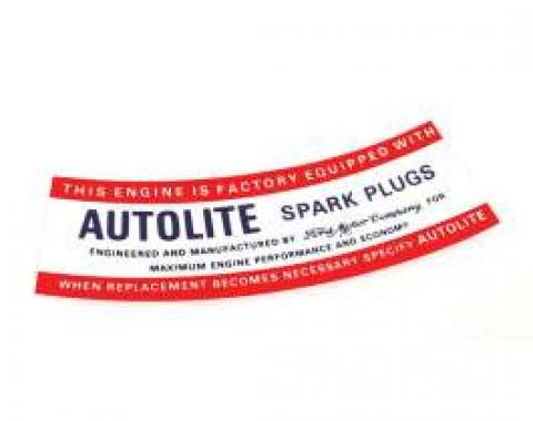 Air Cleaner Decal - Autolite Spark Plugs