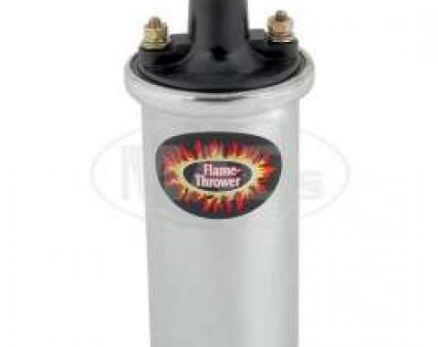 Flame Thrower Ignition Coil - 12 Volt - Chrome - V8