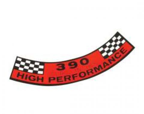 Air Cleaner Decal - 390 Cubic Inches High Performance