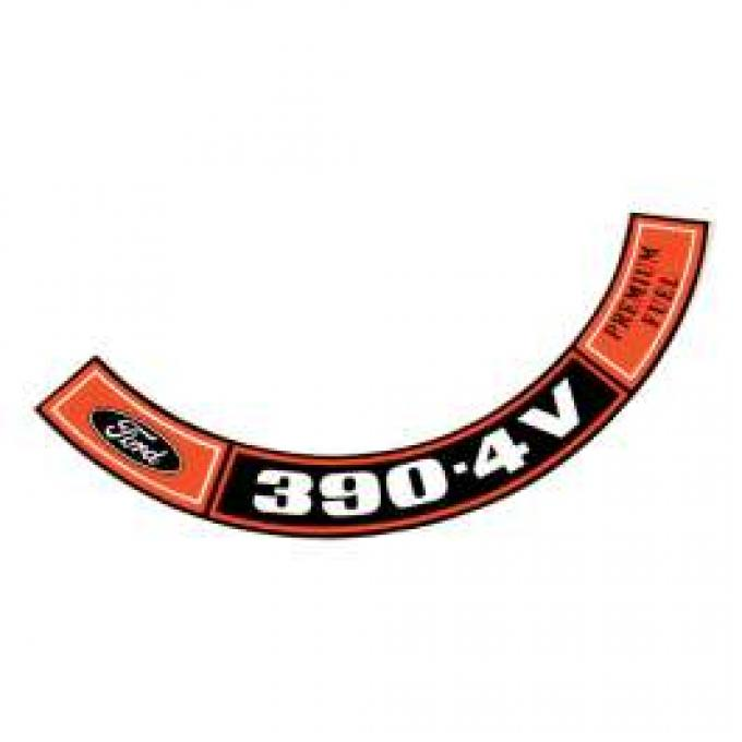 Air Cleaner Decal - 390-4V Premium Fuel