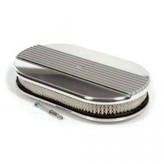 RIBBED OVAL AIR CLEANER (4V)