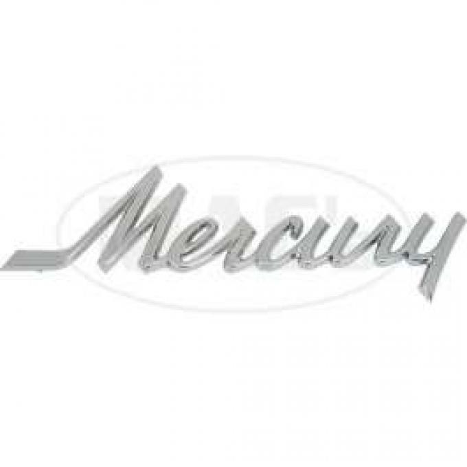Mercury Script Emblem, Comet, Cougar, Full-Size, 1967-1969